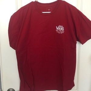 Vans red tee short sleeve size large